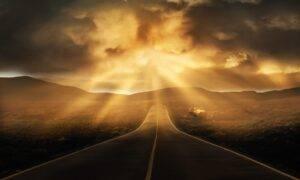 road, landscape, horizon