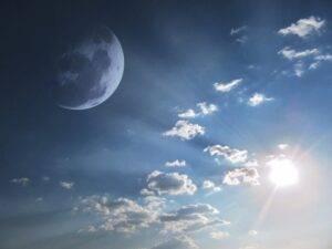 sky, moon, skyscape