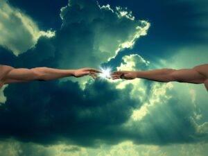 creation, god finger, clouds